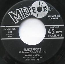 *ROBBIE MARTIN w/ LES HOU-LOPS Electricite /Limbo rock.. RARE 1963 Meteor 45