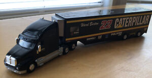 Hot wheels NASCAR #22 Ward Burton Caterpillar Semi truck Diecast 1/64, Tractor