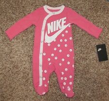 NIKE Futura Footed Coverall Baby Infant 0-3 3 6 9 Months Boys Girls Pajama