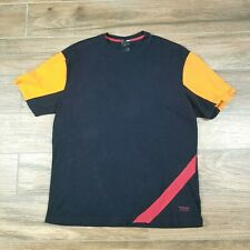 Vintage Versace Sport Men's Short Sleeve Graphic T Shirt 90's Black Yellow Red