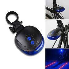 5 LED 2 Laser Mountain Bike Rear Lights Bicycle Cycle Beam Tail Warning Lamp NEW