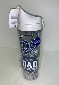 Tervis Super Dad Logos Wrap 24 oz Tumbler with Lid BPA Free Double Wall