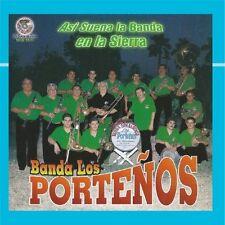 Banda Los Portenos Asi Suena a Banda en la Sierra CD New Nuevo Sealed