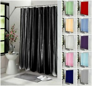 Plain Shower Curtain, Mold and Mildew Resistant 180x180 cm 100% Polyester Fabric