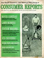 Consumer Reports Magazine June 1966 Lawn Mowers VG No ML 090916jhe