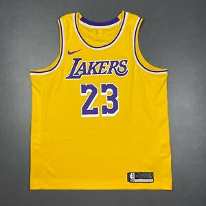 100% Authentic Lebron James Nike Icon Lakers Jersey Size 52 XL Mens