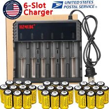 Lot 2800mAh Batteries CR123A 16340 Rechargeable Li-ion Battery Smart Charger US