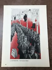 More details for original 1944 ww2 double sided print ! a. hoffmeister - the homeward march