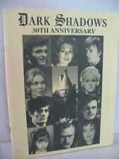 Dark Shadows 30th Anniversary Celebration Program 1996 at Los Angeles Marriott