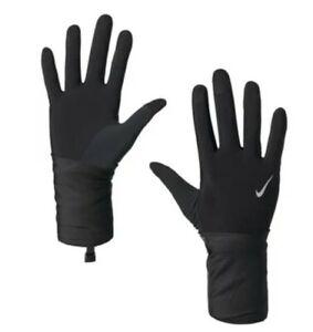 Nike Men's Convertible Running Gloves  Transform Mittens Black/Silver  Sz Small