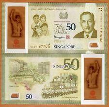 Singapore, 50 Dollars, 2015, Polymer, P-61, UNC >  Commemorative