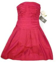 Morgan McFeeters Silk Strapless Ruffle Top Dress NWT Size 4 Jelly Color Womens