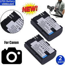 2 Pack Decoded LP-E6 Battery for Canon EOS 5D Mark III II 6D 60D 7D Mark II 70D