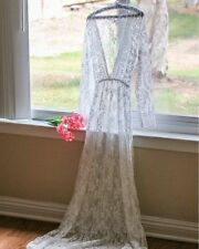 Spitzenkleid Kleid Spitze Fotoshooting Shooting Maxi Kleid weiß 36 S