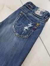 MEK DENIM Capetown Boot Cut Jeans Distressed Stretch Women's 30x34  G64