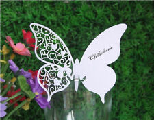100 farfalle Segnaposto BIANCA PERLATA bomboniera matrimonio segnatavolo sposa