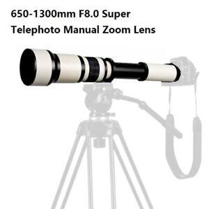 650-1300mm HD Telephoto Zoom Lens for Canon EF EOS Digital SLR Camera