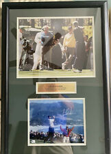 CUSTOM FRAMED TIGER WOODS AUTOGRAPHED PICTURE WITH COA