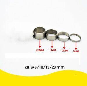 "4pcs Titanium Ti Bicycle Headset Spacer 1-1/8"" (5 - 10 - 15 - 20mm)"