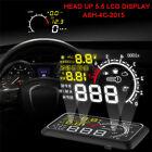 "5.5"" Car HUD Head Up Display OBD II 2 Speed Warning System Fuel Consumption"