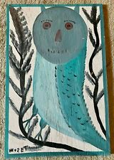 Mose T Painting Mose Tolliver owl