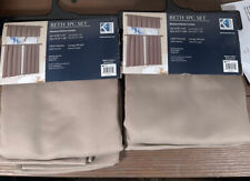 Blackout Kitchen Curtains Beth 3 Pc Set Taupe You Get 2 Sets