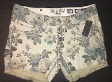Miss Me Shorts, Khaki Beige  Flower Print NWT Sz 25, 27, Or 28 $99