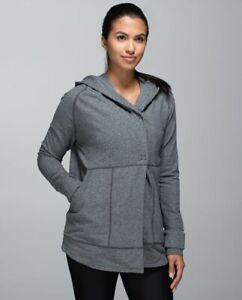 Lululemon Find Your Centre Wrap Heathered Speckled Black Size 6 Jacket Women's