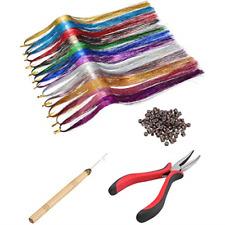 Hair Tinsel Strands Kit Tinsel Hair Extensions Fairy Tinsel Women Girls Tools