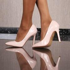 Sexy Pumps High Heels Evening Shoes From Lackleder-Imitat Nude #519