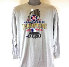 f7d64fbf8964 NEW Mens Majestic MLB Chicago Cubs 2016 World Series Champs Long Sleeve T- Shirt