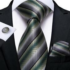 corbata tejida para fiesta y conjunto de bolsillo cuadrado HISDERN Corbata de Navidad para hombre