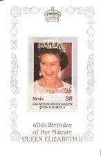 Nevis 1986 60th Birthday Queen Elizabeth Miniature Sheet MNH (SC# 475)
