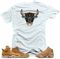 Shirt to match Jordan Golden Harvest OG Wheat Gold 6 1 13.The Bull White Tee