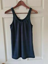 American Apparel Black Cotton Vest Womens Size Large (UK size 10)
