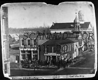 Civil War Era Logansport Indiana Street Stores VINTAGE DUPE PHOTO NEGATIVE
