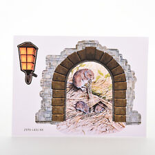 Prevalent Rice Straw Mouse Hole Door Wall Window Decal Mural Stickers Pip HF