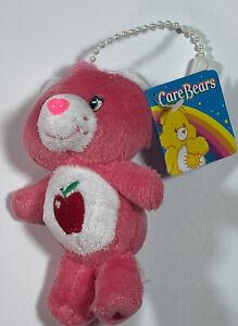 "NWT Care Bears 4"" Smart Heart Bear Plush Keychain 2009"