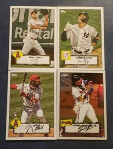 2021 Topps Series 1 Topps 1952 Redux with Chrome and Rookies U Pick Trout Judge