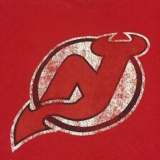 New Jersey Devils T-Shirt NHL Hockey Arena Ice Rink Puck CCM Reebok Goal