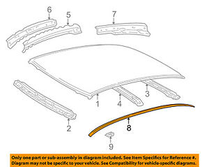TOYOTA OEM 00-05 Echo-Roof Molding Trim Right 7555152040