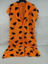 Fred Flintstones Costume Mens Womens Tunic Only Plus Size Orange Adult 1329