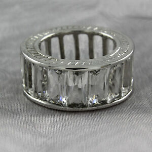 HSN Sterling Silver Simulated diamond Eternity Band Ring Size 6