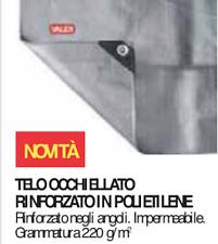 Telo Telone Con Occhielli Pesante 6X10 Mt 220gr Valex 1454292 rinforzato esterno