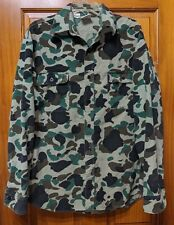 Vintage Prentiss Camouflage Chamois Cloth Long Sleeve Shirt Size L Large Hunting