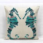"""Crystal Seahorse Cushion Cover LauR Home Decoration Cotton Linen Pillow 45cm/18"""""""