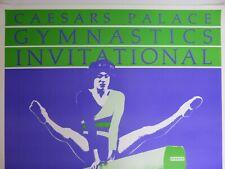 True Vintage 1984 Gymnastics Invitational Poster Pre Olympics Mary Lou Retton