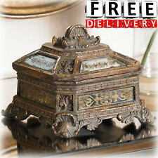 Antique Jewelry Box Vintage Florentine Gold Victorian Holder Storage Organizer