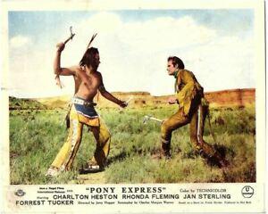 Pony Express Original Lobby Card Charlton Heston as Buffalo Bill Henry Brandon