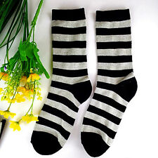 1Pairs Womens Socks Lot Classic Cotton Casual Dress Stripes Sock 20*20cm DWZ64